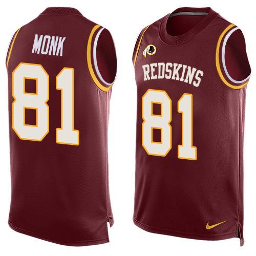 e30581665ac ... Shirt Mens Washington Redskins 81 Art Monk Burgundy Red Hot Pressing  Player Name Number Nike ...