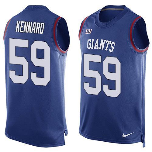 Men s New York Giants  59 Devon Kennard Royal Blue Hot Pressing ... 127c38c9b