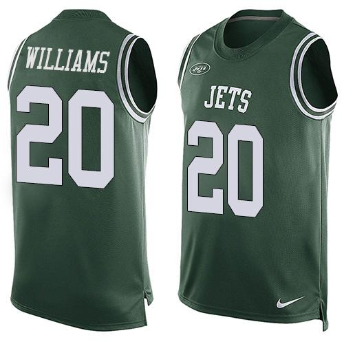 563d809570c ... White NFL Jersey New York Jets Mens New York Jets 20 Marcus Williams  Green Hot Pressing Player Name Number Nike NFL Tank ...