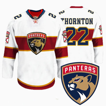 Men's Florida Panthers #22 Shawn Thornton New Logo Reebok White Premier Player Jersey