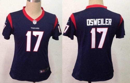 NFL Jersey's Girls Youth Houston Texans Nike Navy Blue Game Jersey