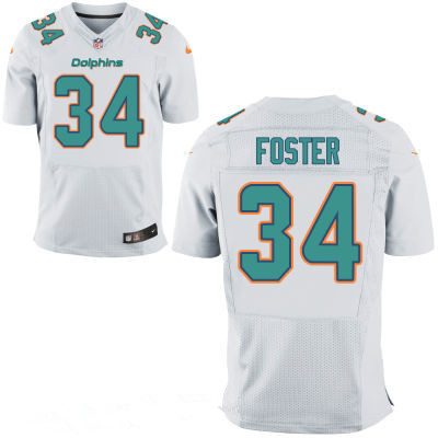 ID100473 Men\'s Miami Dolphins #34 Arian Foster White Road Stitched NFL Nike Elite Jersey