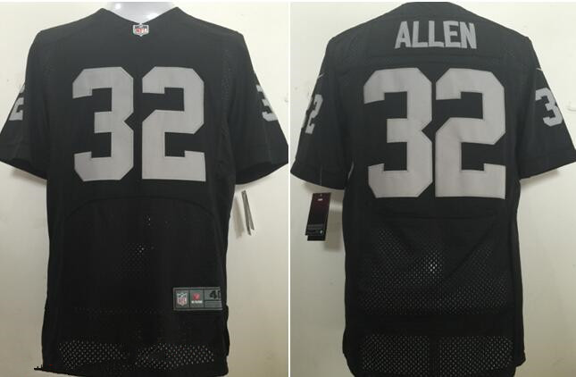 ... Home Oakland Raiders Nike230830 Mens Oakland Raiders 32 Marcus Allen  New Black Stitched NFL Retired Player Nike Elite Jersey ... ba0a68585