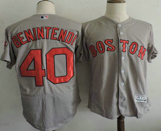 ... Mens Boston Red Sox 40 Andrew Benintendi Gray Road Stitched MLB 2016  Majestic Flex Base Jersey Youth ... f66a5fcaa2f