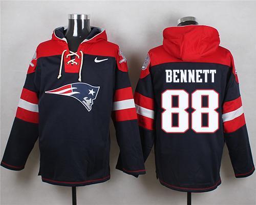 Nike Patriots #88 Martellus Bennett Navy Blue Player Pullover NFL Hoodie