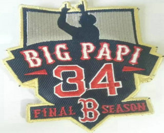 2016 Boston Red Sox 34 Big Papi Retirement Patch