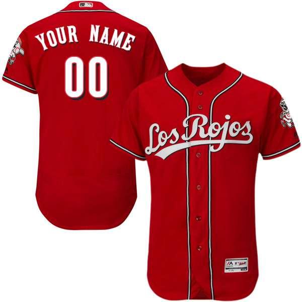 7729201ce79 Mens Cincinnati Reds Los Rojos Red Customized Flexbase Majestic MLB  Collection Jersey
