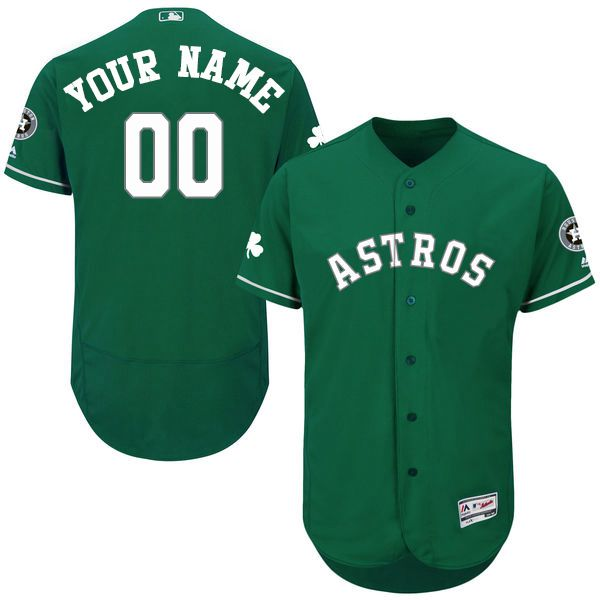 094857205 Mens Houston Astros Green Celtic Customized Flexbase Majestic MLB  Collection Jersey