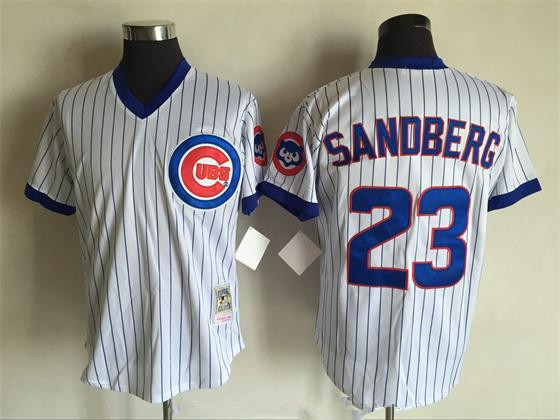 size 40 84465 6fe9d chicago cubs 23 ryne sandberg 1988 white throwback jersey