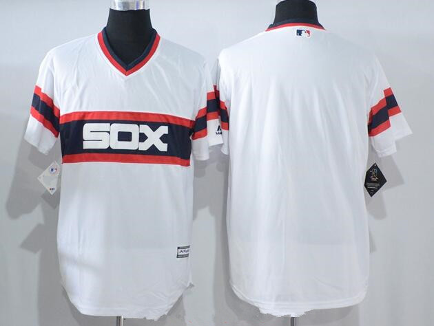 3cfd59679 Men s Chicago White Sox Blank White Pullover Stitched MLB Majestic Cool  Base Jersey