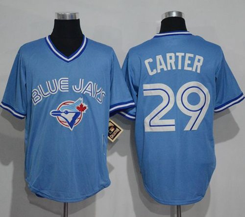 759d55cdd Blue Jays  29 Joe Carter Light Blue Cooperstown Throwback Stitched MLB  Jersey