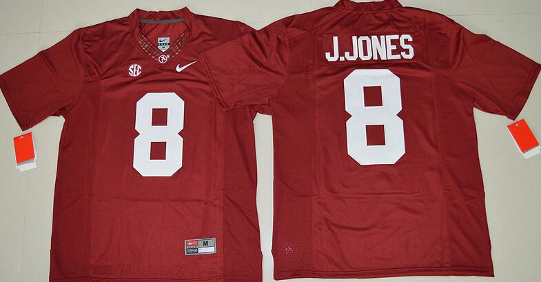 Men's Alabama Crimson Tide #8 Julio Jones Red Limited Stitched College Football Nike NCAA Jersey