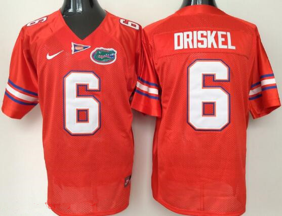 Men's Florida Gators #6 Jeff Driskel Orange Stitched NCAA Nike College Football Jersey