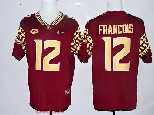 mens florida state seminoles 12 deondre francois red stitched college football 2016 nike ncaa jersey