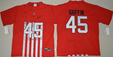 Men's Ohio State Buckeyes #45 Archie Griffin Red Elite Stitched College Football 2016 Nike NCAA Jersey