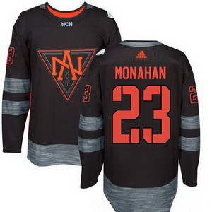 Men's North America Hockey#23 Sean Monahan Black 2016 World Cup of Hockey Stitched adidas WCH Game Jersey