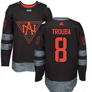 Men's North America Hockey #8 Jacob Trouba Black 2016 World Cup of Hockey Stitched adidas WCH Game Jersey