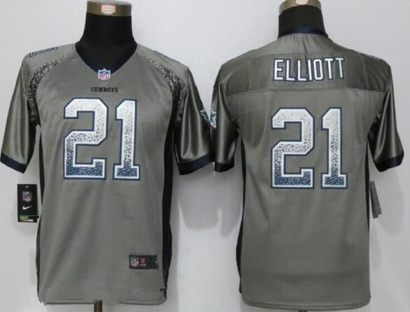 NFL Jersey's Girls Youth Dallas Cowboys Ezekiel Elliott Nike Navy Game Jersey