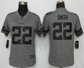 ID98883 Women\'s Minnesota Vikings #22 Harrison Smith Nike Gray Gridiron NFL Gray Limited Jersey