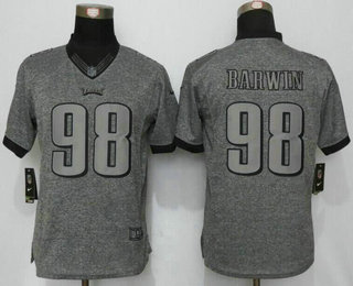 womens philadelphia eagles 98 connor barwin nike gray gridiron nfl gray limited jersey