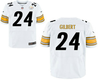 limited jersey mens pittsburgh steelers 24 justin gilbert white road stitched nfl nike elite jersey