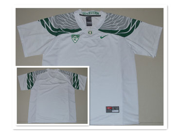 Custom Men's Oregon Duck White College Football Nike Limited Jersey