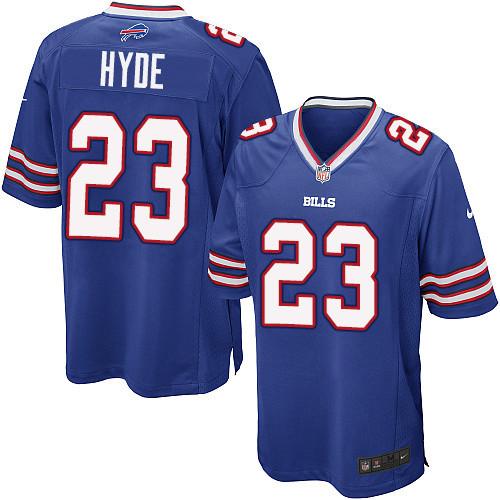 Nike NFL Buffalo Bills #23 Micah Hyde Game Royal Blue Home Men's Jersey
