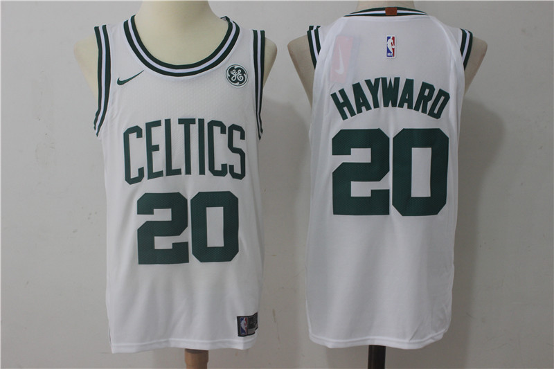 Men's Boston Celtics #20 Gordon Hayward White 2017-2018 Nike Swingman Stitched NBA Jersey