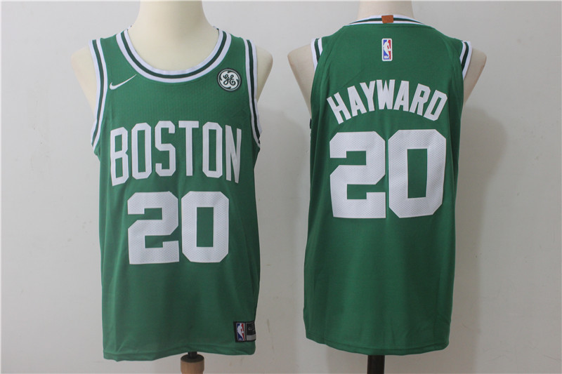 Men's Boston Celtics #20 Gordon Hayward Green 2017-2018 Nike Swingman Stitched NBA Jersey