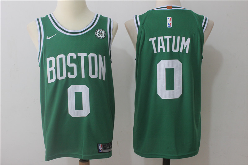 Men's Boston Celtics #0 Jayson Tatum Green 2017-2018 Nike Swingman Stitched NBA Jersey