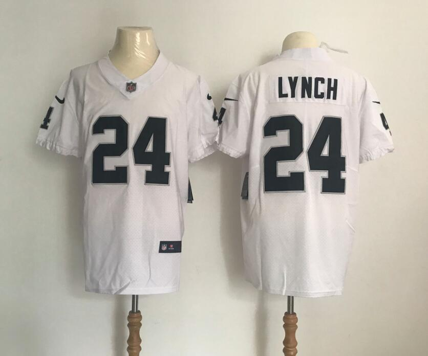 Nike Oakland Raiders #24 Marshawn Lynch Vapor Untouchable White Elite Player Jersey
