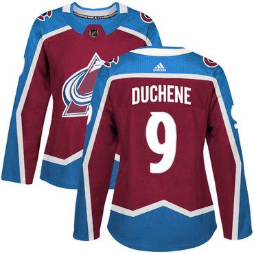Adidas Colorado Avalanche #9 Matt Duchene Burgundy Home Authentic Women's Stitched NHL Jersey