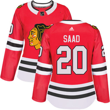 adidas chicago blackhawks 20 brandon saad red home authentic womens stitched nhl jersey