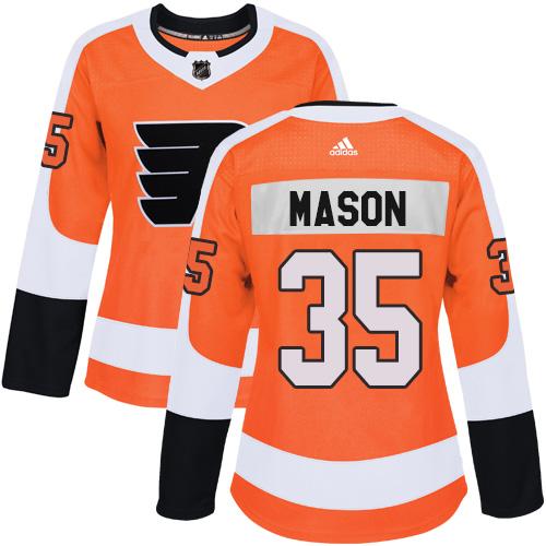 e30a65d24 Adidas Philadelphia Flyers  35 Steve Mason Orange Home Authentic Women s  Stitched NHL Jersey