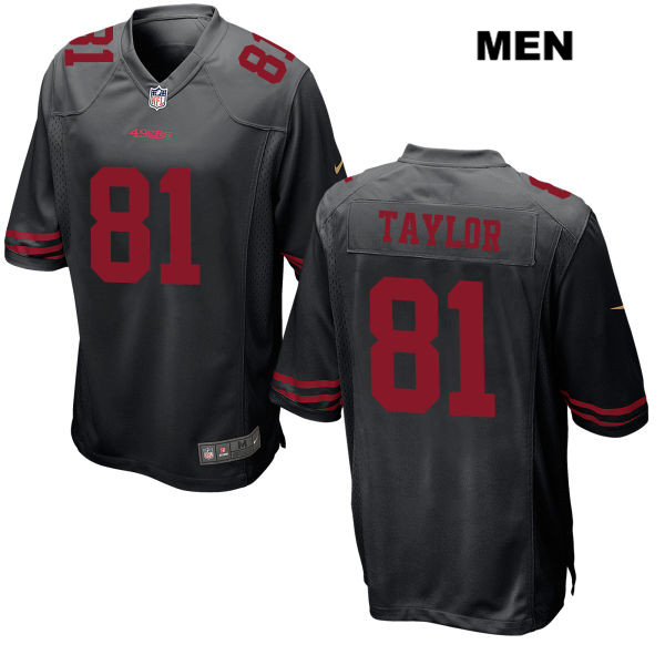 Mens Nike San Francisco 49ers #81 Trent Taylor Stitched Black Game Football Jersey