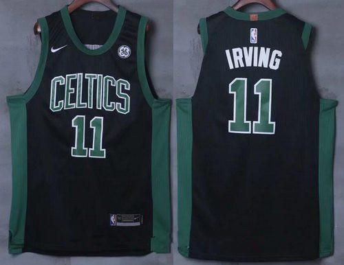 Men's Boston Celtics #11 Kyrie Irving Black 2017-2018 Nike Swingman General Electric Stitched NBA Jersey