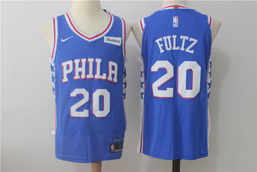 Men's Philadelphia 76ers #20 Markelle Fultz New Royal Blue 2017-2018 Nike Swingman Stitched NBA Jersey