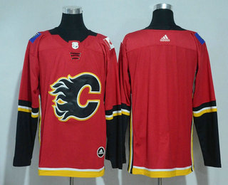 Men's Calgary Flames Blank Red Home 2017-2018 Hockey Stitched NHL Jersey