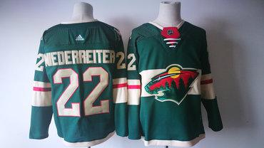 Men's Minnesota Wild #22 Nino Niederreiter Green 2017-2018 Hockey Stitched NHL Jersey