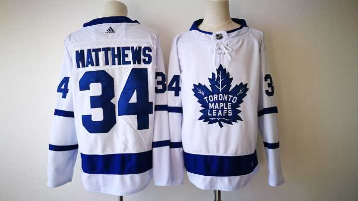 Men's Toronto Maple Leafs #34 Auston Matthews White 2017-2018 adidas Hockey Stitched NHL Jersey