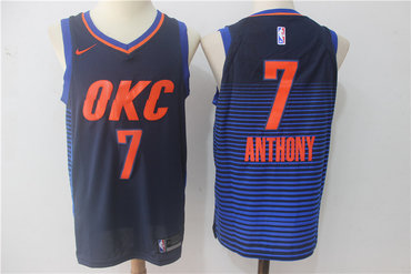 Men's Oklahoma City Thunder #7 Carmelo Anthony Blue Nike Jersey