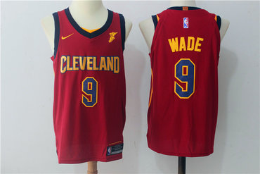 d65644f0ea9 Mens Cleveland Cavaliers 9 Dwyane Wade Burgundy Red 2017-2018 Nike Swingman  Goodyear Stitched ... Lebron James Road Jersey, Cleveland Cavaliers ...