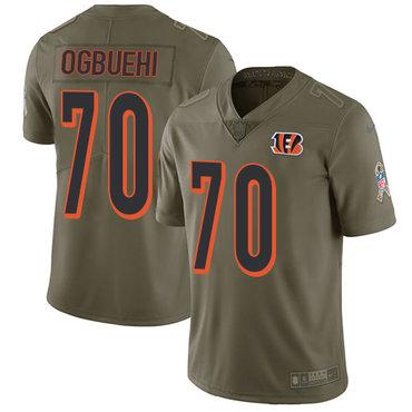 ID89860 Nike Cincinnati Bengals #70 Cedric Ogbuehi Olive Men\'s Stitched NFL Limited 2017 Salute To Service Jersey