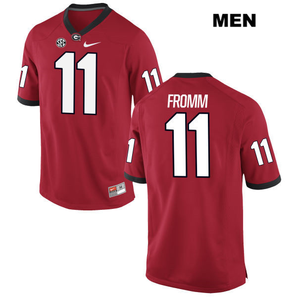 Men's Georgia Bulldogs #11 Jake Fromm Red Stitched NCAA Nike College Football Jersey