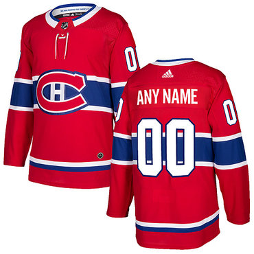 Custom Men's Adidas Montreal Canadiens Red 2017-2018 Hockey Stitched NHL Jersey