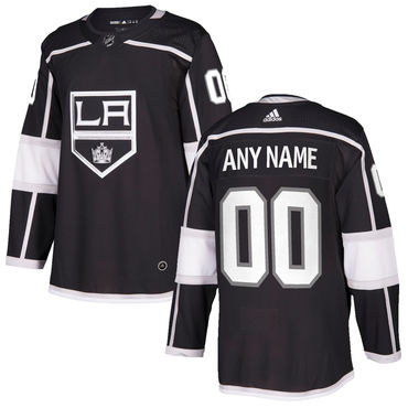 Custom Men's Los Angeles Kings Adidas 2017-2018 Black Hockey Jersey