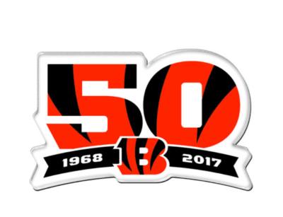 2017 Cincinnati Bengals 50th Anniversary Patch