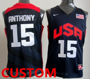 Custom 2012 Olympics Team USA Revolution 30 Swingman Blue Jersey