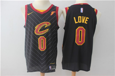 Men's Cleveland Cavaliers #0 Kevin Love Black 2017-2018 Nike Swingman Goodyear Stitched NBA Jersey