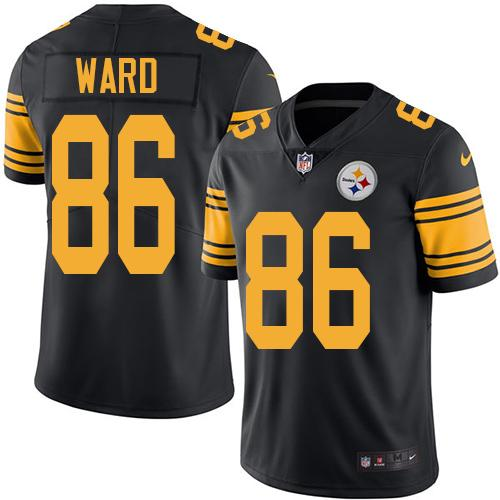 Youth Nike Steelers #86 Hines Ward Black Stitched NFL Limited Rush Jersey